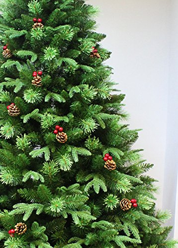 HOLIDAY STUFF Realistic 6 Foot True Nature Beauty Decorated Christmas Tree Hinged Construction 6ft Unlit 0 0