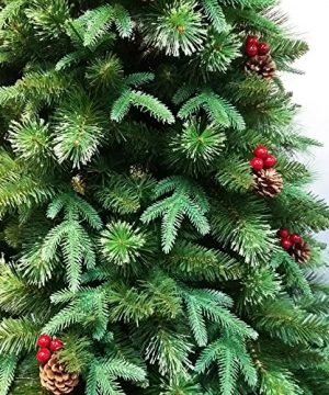 HOLIDAY STUFF Realistic 6 Foot True Nature Beauty Decorated Christmas Tree Hinged Construction 6ft Unlit 0 1 300x360