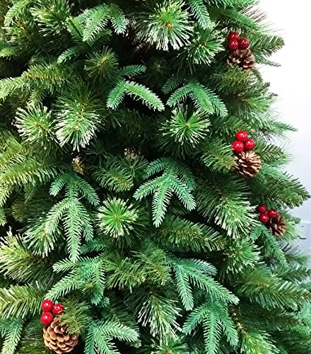 HOLIDAY STUFF Realistic 6 Foot True Nature Beauty Decorated Christmas Tree Hinged Construction 6ft Unlit 0 1