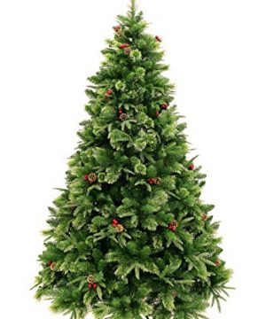 HOLIDAY STUFF Realistic 6 Foot True Nature Beauty Decorated Christmas Tree Hinged Construction 6ft Unlit 0 300x360