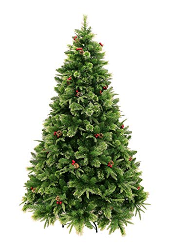 HOLIDAY STUFF Realistic 6 Foot True Nature Beauty Decorated Christmas Tree Hinged Construction 6ft Unlit 0