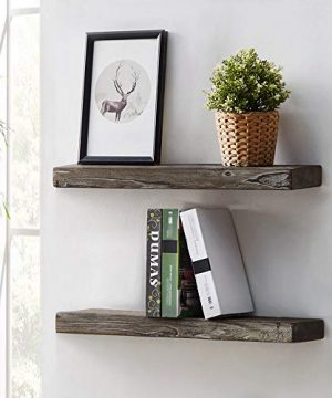 HSH Rustic Wood Floating Shelf Rugged Reclaimed Solid Wooden Wall Shelf Farmhouse Industrial Vintage Mount Shelving Natural Pine 30 X 71 Inch Set Of 2 0 0 300x360