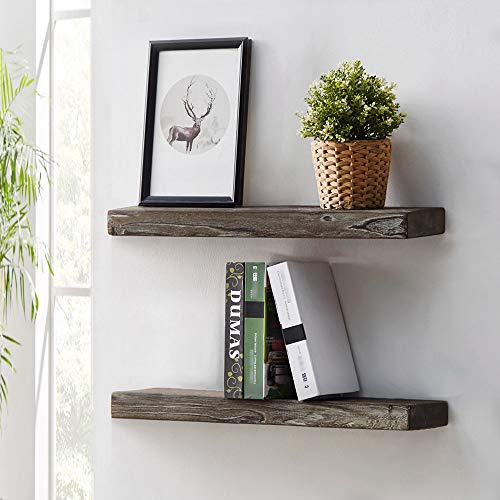 HSH Rustic Wood Floating Shelf Rugged Reclaimed Solid Wooden Wall Shelf Farmhouse Industrial Vintage Mount Shelving Natural Pine 30 X 71 Inch Set Of 2 0 0