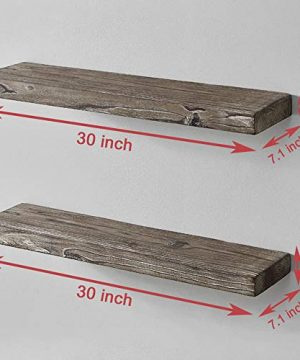 HSH Rustic Wood Floating Shelf Rugged Reclaimed Solid Wooden Wall Shelf Farmhouse Industrial Vintage Mount Shelving Natural Pine 30 X 71 Inch Set Of 2 0 1 300x360