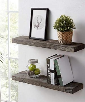 HSH Rustic Wood Floating Shelf Rugged Reclaimed Solid Wooden Wall Shelf Farmhouse Industrial Vintage Mount Shelving Natural Pine 30 X 71 Inch Set Of 2 0 5 300x360