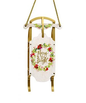 Hallmark Christmas Ornaments Hallmark Signature Premium Merry Bright Sled Wood Ornament 0 300x360