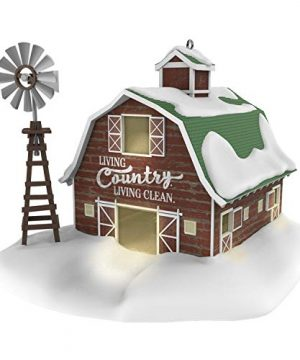 Hallmark Keepsake Christmas 2019 Year Dated Clean Country Living Barn And Windmill Farm Ornament 0 300x360