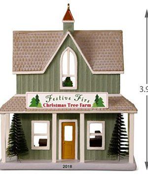 Hallmark Keepsake Christmas Ornament 2018 Year Dated Nostalgic Houses And Shops Festive Firs Christmas Tree Farm 0 3 300x360