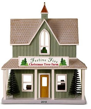 Hallmark Keepsake Christmas Ornament 2018 Year Dated Nostalgic Houses And Shops Festive Firs Christmas Tree Farm 0 300x360