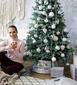 Hallops Galvanized Tree Collar Large To Small Christmas Tree Adjustable Metal Skirt Christmas Decor 0 1 300x333