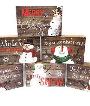 Hannas Handiworks Set Of 6 Wooden Winter Holiday Light Up Twinkle Wall Decoration Plaques Signs Christmas Wishes Wall Hanger 0 300x354