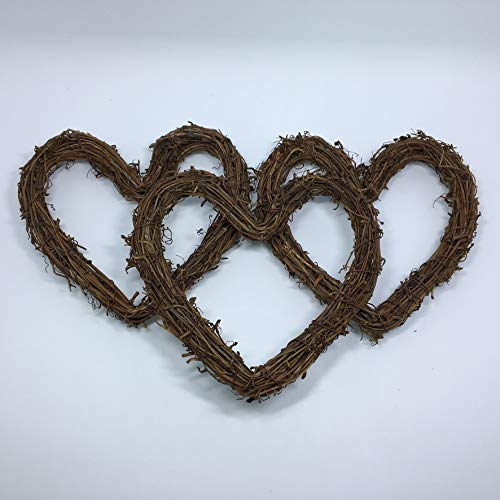 Amyzor Heart Shape Natural Grapevine Wreath Ring Diy Craft Vines