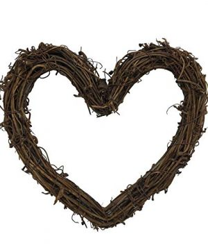 Heart Shape Natural Grapevine Wreath Ring Wreath DIY Craft Vines Base Grapevine Roll For Rustic Summer Fall Christmas Wreath Door Garland Home Wedding Party Decor Gift Hanging Decor Wreaths Supplies 0 300x360