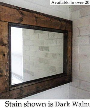 Herringbone Reclaimed Wood Framed Mirror Available In 4 Sizes And 20 Stain Colors Shown In Dark Walnut Large Wall Mirror Rustic Modern Home Home Decor Mirror Housewares Woodwork Frame 0 300x360