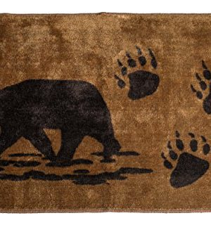 HiEnd Accents Bear Kitchen And Bath Lodge Rug 24 By 36 Inch 0 300x320