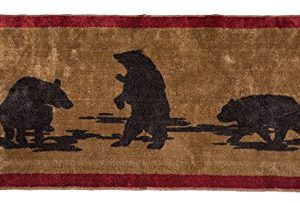 HiEnd Accents Bear Kitchen And Bath Lodge Rug 24 By 60 Inch 0 300x203