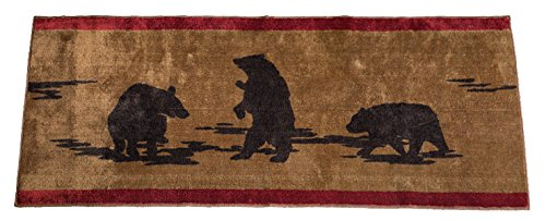 HiEnd Accents Bear Kitchen And Bath Lodge Rug 24 By 60 Inch 0