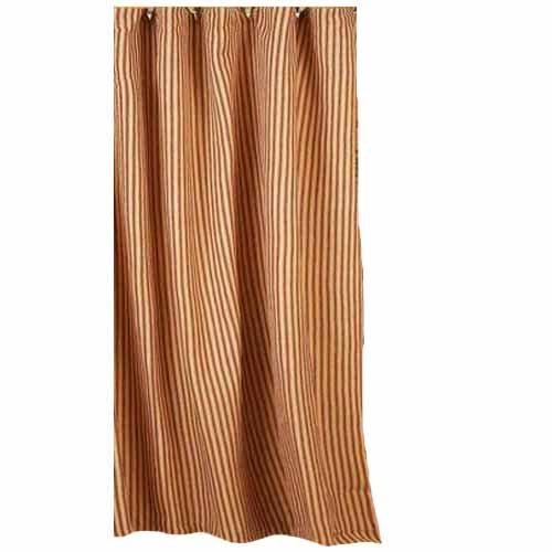 Home Collection By Raghu York Ticking Barn Red And Nutmeg Shower Curtain 72 By 72 0