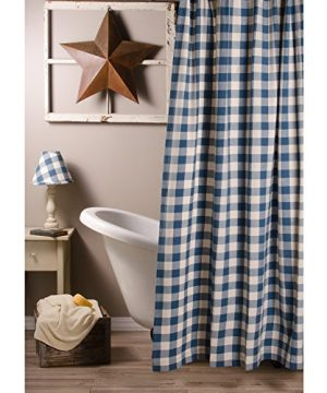 Home Collections By Raghu 72x72 Colonial Blue And Buttermilk Buffalo Check Shower Curtain 0 0 300x360