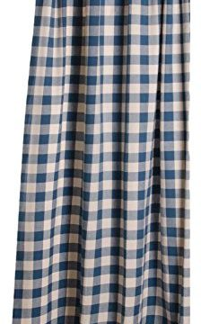 Home Collections By Raghu 72x72 Colonial Blue And Buttermilk Buffalo Check Shower Curtain 0 224x360