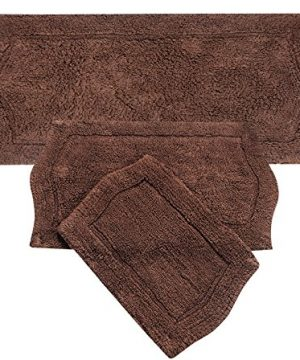 Home Weavers 3 Piece Waterford Set Rug Chocolate 22 X 60 0 300x360