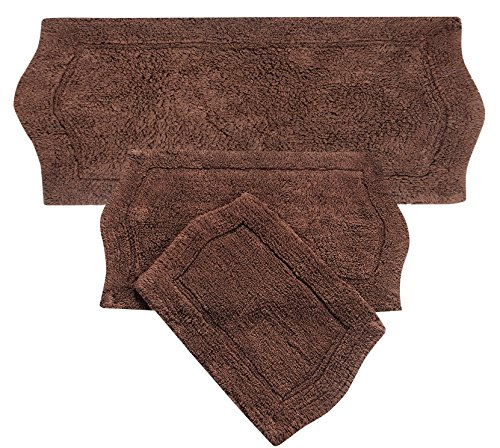 Home Weavers 3 Piece Waterford Set Rug Chocolate 22 X 60 0