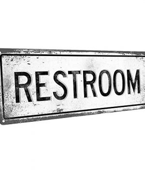 Homebody Accents Restroom 6x16 Metal Sign Retro Restroom Rustic 0 300x360