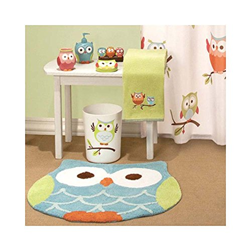Hooty Owl Bath Rug By Saturday Knight 0 0