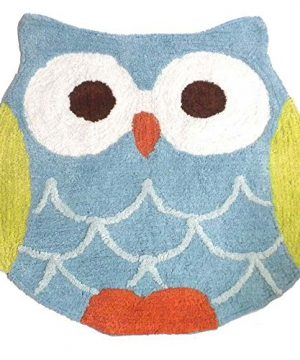 Hooty Owl Bath Rug By Saturday Knight 0 300x360