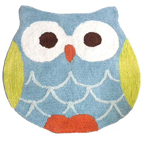 Hooty Owl Bath Rug By Saturday Knight 0