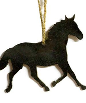Horse Equestrian Metal Christmas Ornament Tree Stocking Stuffer Party Favor Holiday Decoration Raw Steel Gift Recycled Nature Home Decor 0 300x360