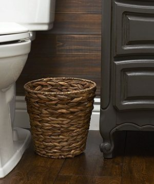 Household Essentials Woven Water Hyacinth Wicker Waste Basket Natural 0 0 300x360