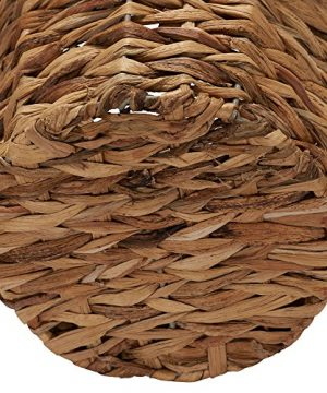 Household Essentials Woven Water Hyacinth Wicker Waste Basket Natural 0 1 300x360