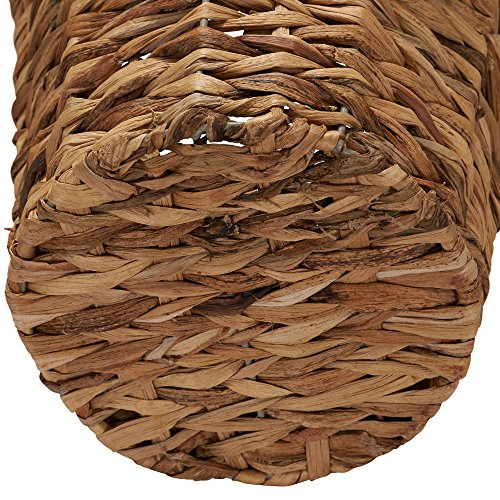 Household Essentials Woven Water Hyacinth Wicker Waste Basket Natural 0 1