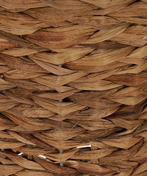Household Essentials Woven Water Hyacinth Wicker Waste Basket Natural 0 2 300x360