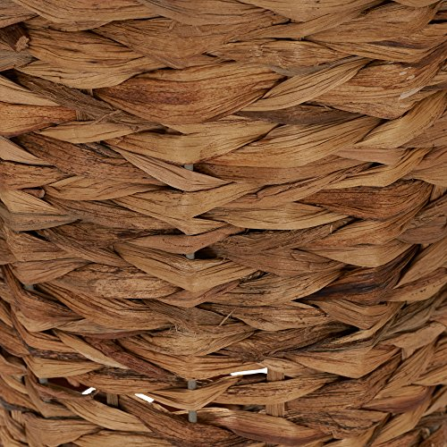 Household Essentials Woven Water Hyacinth Wicker Waste Basket Natural 0 2