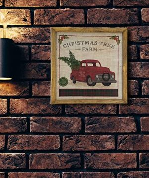 Imprints Plus Inspirational Wood Sign Rustic Wall Dcor Plaque With Sawtooth Hanger Nail And Instruction Card Christmas Tree Farm 12 X 12 147 00016 0 0 300x360