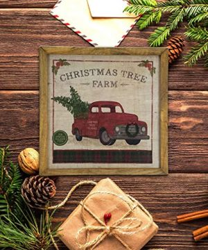 Imprints Plus Inspirational Wood Sign Rustic Wall Dcor Plaque With Sawtooth Hanger Nail And Instruction Card Christmas Tree Farm 12 X 12 147 00016 0 1 300x360