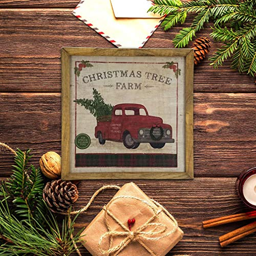 Imprints Plus Inspirational Wood Sign Rustic Wall Dcor Plaque With Sawtooth Hanger Nail And Instruction Card Christmas Tree Farm 12 X 12 147 00016 0 1