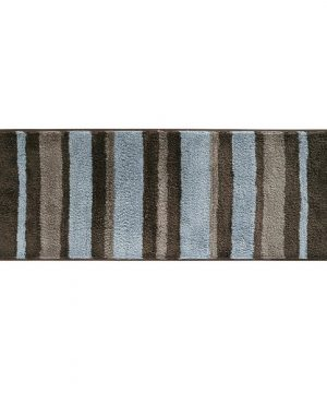 InterDesign Microfiber Stripz Bathroom Shower And Tub Accent Rug 60 X 21 MochaGray Large 0 300x360