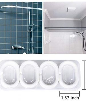 JRing Shower Curtain Polyester Fabric Waterproof Machine Washable With 12 Hooks 72x72 Inch 0 1 300x360