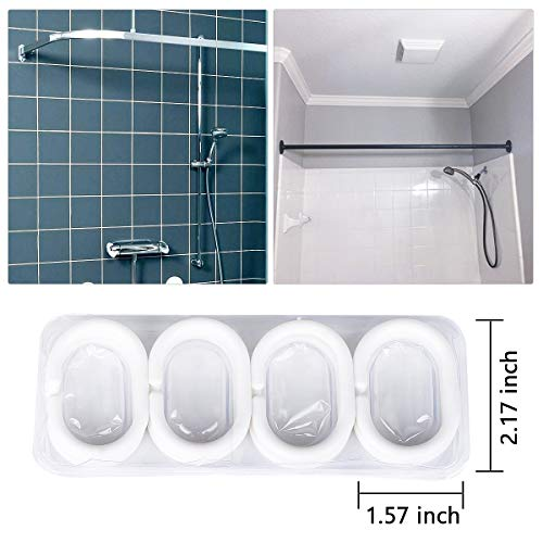 JRing Shower Curtain Polyester Fabric Waterproof Machine Washable With 12 Hooks 72x72 Inch 0 1