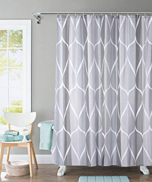 JRing Shower Curtain Polyester Fabric Waterproof Machine Washable With 12 Hooks 72x72 Inch 0 300x360