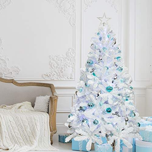 2 Ft White Christmas Tree: KI Store Artificial White Christmas Tree With Ornaments
