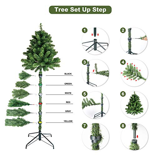 KI Store Artificial White Christmas Tree With Decoration Ornaments Blue And White Christmas Decorations Including 6 Feet Full Christmas Tree 135pcs Ornaments 2pcs 39ft USB Mini LED String Lights 0 5