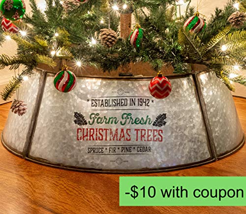 KIBAGA Rustic Farmhouse Easy Set Up Christmas Tree Collar Authentic 30 Tree RingTree Skirt Decorates Your Home For The Holidays 0 0