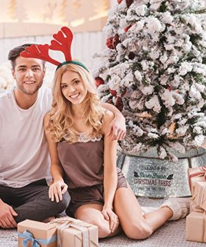 KIBAGA Rustic Farmhouse Easy Set Up Christmas Tree Collar Authentic 30 Tree RingTree Skirt Decorates Your Home For The Holidays 0 1 300x360