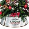 KIBAGA Rustic Farmhouse Easy Set Up Christmas Tree Collar Authentic 30 Tree RingTree Skirt Decorates Your Home For The Holidays 0 100x100