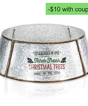 KIBAGA Rustic Farmhouse Easy Set Up Christmas Tree Collar Authentic 30 Tree RingTree Skirt Decorates Your Home For The Holidays 0 4 300x360