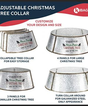 KIBAGA Rustic Farmhouse Easy Set Up Christmas Tree Collar Authentic 30 Tree RingTree Skirt Decorates Your Home For The Holidays 0 5 300x360